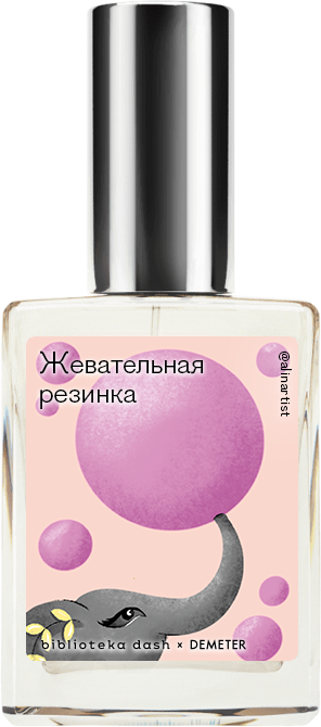 Demeter Fragrance Library Авторский одеколон «Жевательная резинка» (Bubble Gum) 30мл фото
